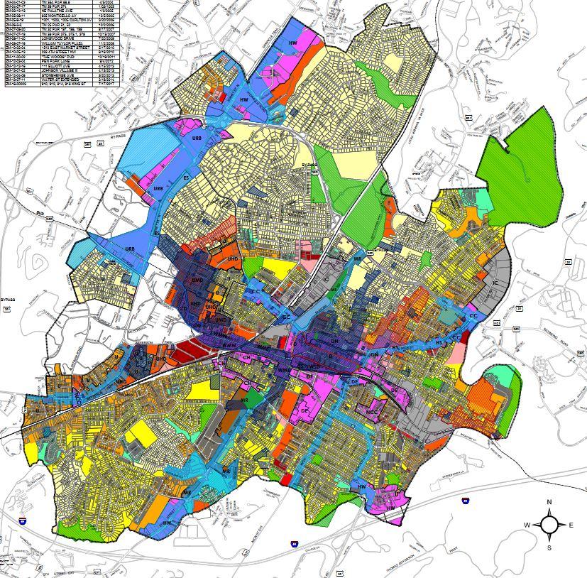 Charlottesville City Zoning Map (c. 2009)