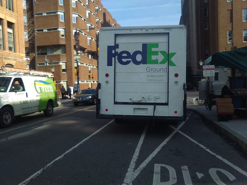 FedEx in the Bike Lane