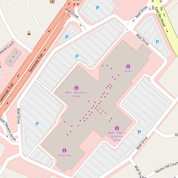 Fashion Square Mall on the map